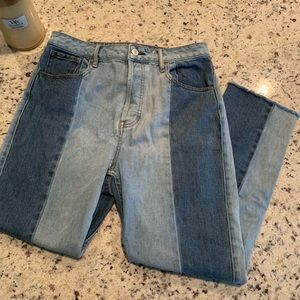 Pacsun Two Toned Mom Jean